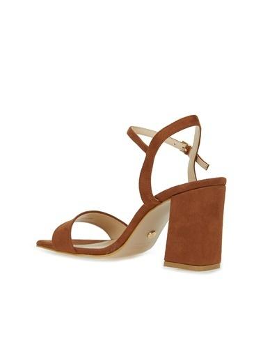 Divarese Divarese 5025399 Bantlı Topuklu Kadın Sandalet Taba